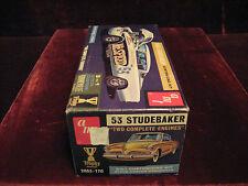 1st Issue VTG 53 Studebaker Customizing Model/Kit 2053 AMT USA 3in1Time Capsule!