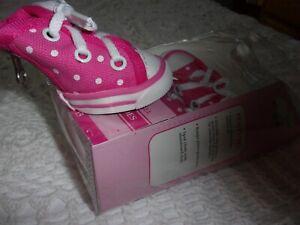PINK Dot High Top Tennis Shoe Dog Pet Puppy S L new Smoochie Pooch boot sneaker
