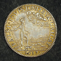 "1617, France, Louis XIII. Silver ""Assasination of Marshall d'Ancre"" Jetton/Medal"