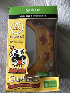 Xbox One and Windows 10 PowerA Enhanced Wired Controller Cuphead Cup Head Orange