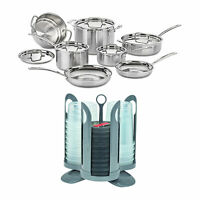 Cuisinart MCP-12N MultiClad Pro 3 Ply 12 Piece Cookware Set with Containers