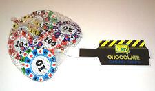 CASINO CHIP CHOCOLATES Foil Wrapper JACK THE LAD Net Bag COINS DISC Poker PARTY
