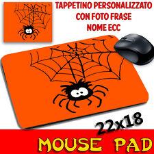 Tappetino Mouse Pad Collezione Halloween Ragno simpatico Arancione
