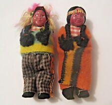 2 VINTAGE NATIVE AMERICAN DOLLS MADE IN JAPAN ~ VERY OLD COLLECTIBLES ~ L@@K !!