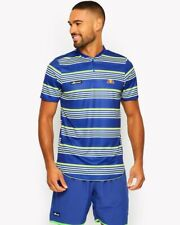 ELLESSE L'AGORA STRIPED HENLY T-SHIRT Blue Size Medium RRP £39.99 Free Postage