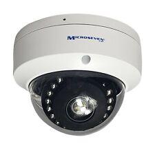 Microseven 5MP POE H.265 HD Outdoor Dome IP Camera Audio 128GB SD Slot Alexa