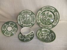 C4 Pottery English Ironstone Tableware - Indian Tree - green 3D3C