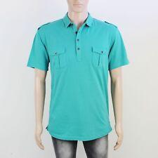 Firetrap Mens Size M Green Short Sleeve Shirt Top