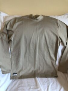 Under Armour Mens XL Fitted Coldgear Mock Turtleneck Athletic Shirt - Tactical