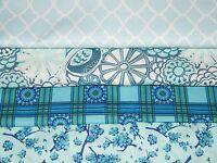 4 FQ Bundle – Blue & Turquoise Prints 100% Cotton Quilt Fabric Fat Quarters