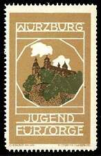 Germany - Würzburg Jugend Fürsorge Poster Stamp