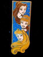 Pin 34687 Disney Auctions Aurora, Belle & Cinderella Vertical Sparkle LE 250 NOC