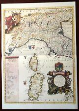 Carta geografica ITALIA DEL NORD E CENTRALE Coronelli 1985