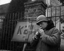 WW2 1945 Koln Cologne Germany Sign Army Officer Cigarette WWII Photo FL110