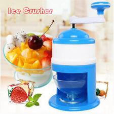 Portable Ice Shaver Crusher Hand Crank Shredding Snow Cone Maker Machine