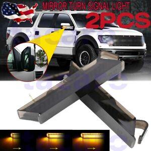 2pcs LED Under Side Mirror Turn Signal Light Kit Indicator for Ford F-150 Raptor
