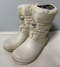 Crocs Boots 7W White Super Mold Crocband Wellie Rain Snow