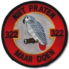 RoNLAF 322nd Sqn Polly Parrot F-16 BK 20 MLU Close Air Support Afghanistan SSI
