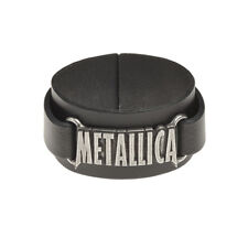OFFICIAL Metallica Leather Bracelet By Alchemy Gothic | Men's Ladies Wriststrap