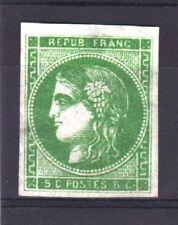 "FRANCE STAMP TIMBRE 42 Ba "" CERES BORDEAUX 5c VERT JAUNE FONCE"" NEUF (x) TB R491"