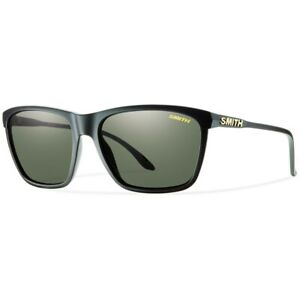 Smith DELANO Pk DL5 Matte Black/ Grey Green Polarized Lens Sunglasses New