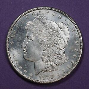 1878-S $1 Morgan silver dollar coin, UNC