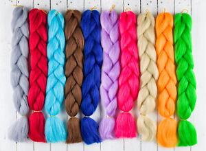 "DreadLab - Synthetic Jumbo Braid Hair Single Tone (24""/60cm) Multiple Colours"