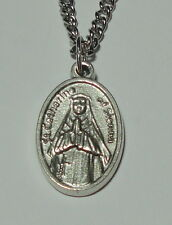"""New Updated St Catherine of Siena Holy Medal on 24"""" Chain Nursing Services"""