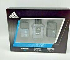 Adidas Fragrance  3 Piece Gift Set Moves, Dynamic Pulse & Moves 1.7 OZ / 0.5 OZ