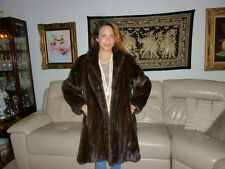 LONG BEACH FUR SALON GENUINE MINK SWING FUR COAT JACKET PARKA SAGA STOLE CAPE