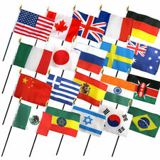 "Set of 20 International Countries 4""x6"" Desk Table Stick Flag (No Bases)"
