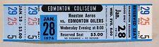 WHA 1976 HOUSTON AEROS at EDMONTON OILERS unused MINT hockey ticket