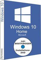 Windows 10 Home, gratis DVD + OEM Key, Produktschlüssel, 32/64Bit