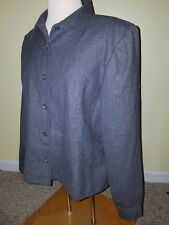 Pendleton Pure Virgin Wool Dark Gray Lined, Button up Jacket Women's SZ 14