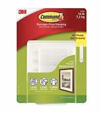 3M Command Damage Free Picture and Frame Hanging, Large Strips 30 Pairs