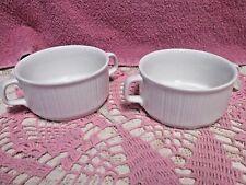 Rosenthal Variation White Cream Soup Bowls Studio Linie Germany  Handles Set 2