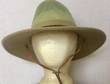 Dorfman Pacific Co Size M Safari Sun Hat Vents Leather Cord Cotton Blend Large
