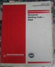 STRUCTURAL WELDING CODE - STEEL ~  AWS D1. 1:2000 ~ ANSI