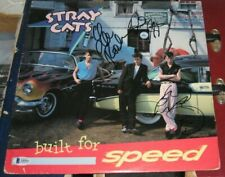 Setzer Phantom Rocker Stray Cats SIGNED 1982 Build For Speed VINYL ALBUM BAS