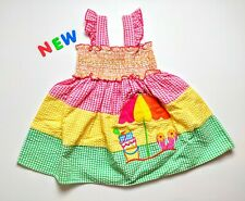 Toddler Kids Baby Girls Clothes 24M - 4T NWT Good Lad Beach Seersucker Dress