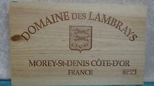 DOMAINE DES LAMBRAYS FRANCE WOOD WINE PANEL END