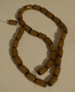 Beads Strand Brown Buri Nut Tube Beads Philippine 12mm
