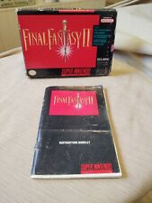 Final Fantasy Ii for Snes Manual and Box Only - No Game