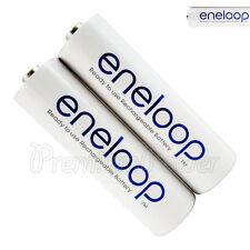 2 x Panasonic Eneloop AA batteries 1900mAh Rechargeable Ni-MH Accu BK-3MCCE LR06