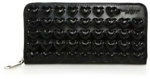 Marc Jacobs Embossed Hearts Continental Wallet, Black (MSRP $215) NEW