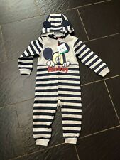 Disney Mickey Mouse all in One Hooded Outfit 18-24 Months New