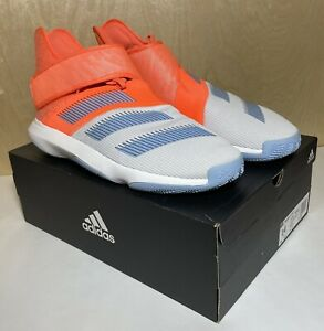 Adidas Harden B/E 3 Mens Athletic Shoes Size 14 Neon Orange Blue White F97189