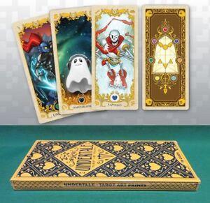 "Undertale Tarot Card Deck Art Prints Set of 36 Sans Papyrus Flowey Toriel 3 x 7"""