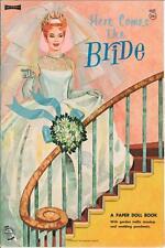 Vintage 1967 Heres Bride Paper Dolls ~Pretty Laser Reproduction~Orig. Size Uncut