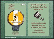 Insignia de la barra de Coche Clásico + Accesorios-Wolverhampton Wanderers 1950s 60s-B1.1327